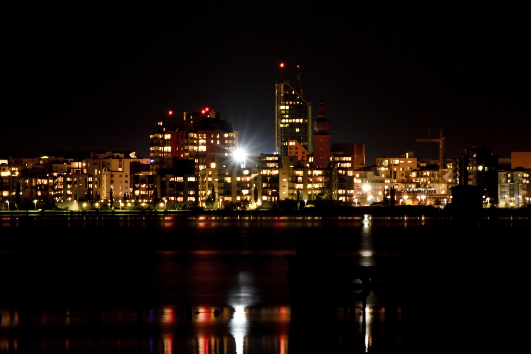 Västerås på natten